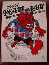 Pearl Jam Nijmegen 2007 Poster