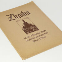 Dresden 1920s 1930 Photo Book w/16 full page pictures Elbe Frauenkirche Saxony