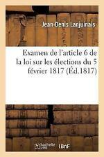 Sciences Sociales: Examen de l'Article 6 de la Loi Sur les Elections du 5...