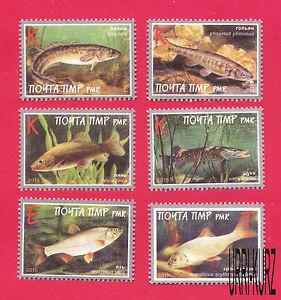 TRANSNISTRIA 2015 Nature Fauna Fish 6v MNH