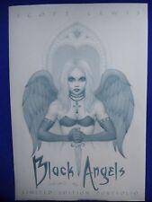 ~ BLACK ANGELS LIMITED EDITION 11x17 PORTFOLIO #169/1000  SIGNED! LEWIS ~OOP!