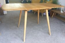 Vintage Ercol Rectangular Drop Leaf Plank Dining Table, Model 383