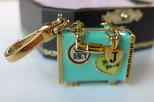 Juicy Couture World Traveler Suitcase Charm enamel locket opens vintage box tags
