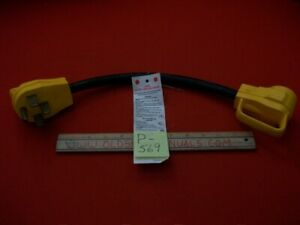 CAMCO #55175 RV/TT POWER GRIP CORD ADAPTER 50A MALE 2 30A FEMALE W/ SAFE HANDLES