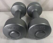 2 Dumb Bells 5 LB Weights Ea. Sport Works Fitness Strength Balance Core 10 Total