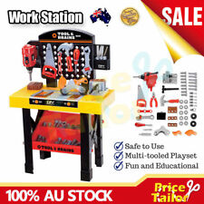 Kids Children Tool Kit DIY Work Bench Station Trolley Drill Shop Pretend Toy Set