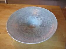 """Stunning hand thrown Raku crazed pale green large 14"""" decorative bowl"""