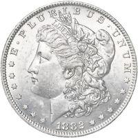 1882 O Morgan Silver Dollar AU+ Slider