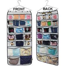 Practical 42 Pockets Hanging Closet Jewelry Bra Underwear Socks Ties Organizers