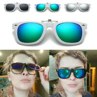 Clip-on Outdoor UV400 Polarized Magnet Flip-up Lenses Sunglasses Myopia Glasses