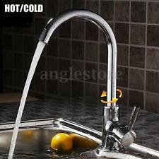 Chrome Hot/Cold Mixer Sink Water Tap Basin Kitchen Single Handle Spout Faucet