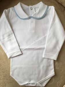 Spanish baby long sleeve Peter Pan collar vests 3-6 months romany