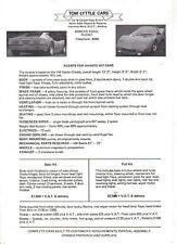 Avante Sports VW Beetle Based Kit Car original Sales Brochure Tom Lyttle Cars