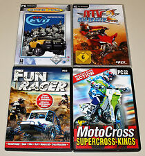 4 PC SPIELE SAMMLUNG - MOTOCROSS FUN RACER ATV QUADRACER 4x4 EVO SUPERCROSS KING