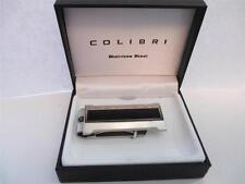 Colibri Precision Stainless Steel Silver & Black Lacquer Money Clip