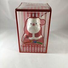 Slatkin & Co. Light-Up Santa Wallflower Pluggable Home Fragrance Diffuser Colors