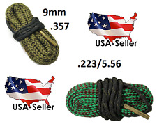 Combo 5.56/.223 & 9mm .357 Bore Snake cleaning ropes 5.56 223 10/22 22 Cal 10/22