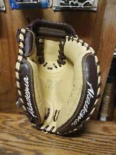 Akadema APM43 Torino Series 33 Inch Catchers Glove Mitt Espresso Brown/Tan 33