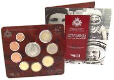 San Marino 1 Cent bis 2 Euro 2011 KMS mit 5 Euro Juri Gagarin im Folder