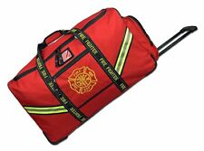 Pro Firefighter Premium Rolling Bunker Turnout Gear Bag with Retractable Handle
