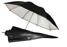 """FOTGA 33""""85cm Photo Studio Flash Light Reflector Reflective BlackSliver Umbrella"""
