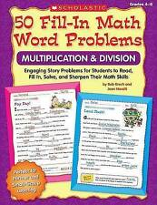 USED (LN) 50 Fill-in Math Word Problems: Multiplication & Division: Engaging Sto