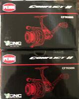 Penn CFTII3000Conflict II Long Cast Spinning Reel, Black