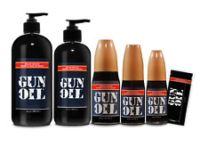 Authentic GUN OIL SILICONE Based Personal Lubricant Premium Sex Lube ALL SIZES ®