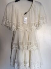 NWT H&M Women Embroidery Creamy White Lace Dress US 4