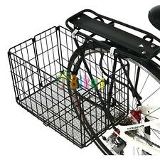 Bicycle Basket Axiom Rear Wire Folding Standard Black
