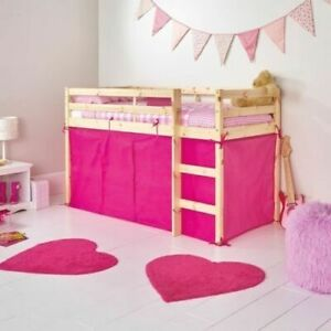 Fuschia Pink Tent For Mid Sleeper Bed Girls Bedroom Midsleeper Storage - New