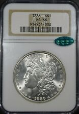 "1886 Morgan Silver Dollar ""NGC MS66 CAC"" *Free S/H After 1st Item*"