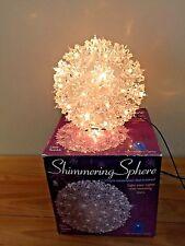 "Bethlehem Lights SHIMMERING SPHERE clear twinkling Ball of 50 lights w/Box 6"""