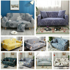 1-4 Seater Washable Stretch Fabric Sofa Covers Couch Elastic Slipcover Protector