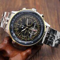Jaragar Men's Sport Army Auto Mechanical Wrist Watch Stainless Steel Band Gift
