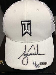 Upper Deck Tiger Woods Autographed Hat LIMITED 2/25
