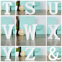 26 Wooden Wood Letter Alphabet Word Free Standing Wedding Party Home Decor Dr