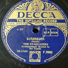 78rpm THE STARGAZERS sugarbush / the day of jubilo