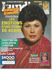 Le Lundi June 21st 1986 CHARLTON HESTON 40 Secrets French Magazine GINETTE RENO