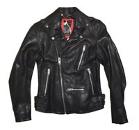 DIESEL L-GIBSON-1 LEATHER JACKET BLACK SIZE L 100% AUTHENTIC