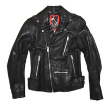 DIESEL L-GIBSON-1 LEATHER JACKET BLACK SIZE M 100% AUTHENTIC