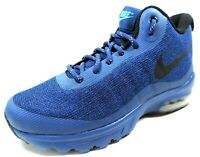 Nike AIR MAX INVIGOR MID Mens Shoes Blue Basketball 858654-400 Sneaker Boots