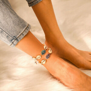 Bohemian Natural Cowrie Beads Shell Anklet Bracelet Handmade Beach Foot Jewelry