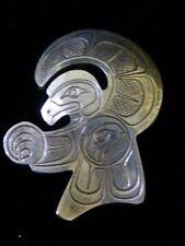 Northwest Coast Sterling Silver Raven Stealing Moon Pendant Signed: I.I.H.