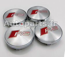 4 Cache Jante BBS - Centre roue Boulon Tuning AUDI - 60mm -  RS RS3 RS4 RS5 RS6