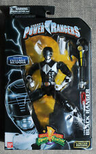 BANDAI Power Rangers Metallic BLACK RANGER Figure Legacy Collection Exc. WEAPONS