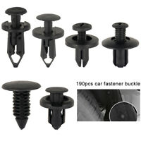 190 Pcs Car Plastic Trim Door Panel Retainer Clips Rivet Fastener Mud Flaps Push