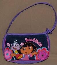 "9"" Dora The Explorer Handbag Show Character Girls Toys Purse Hand Bag Purple"