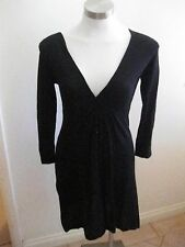 Ladies CAPTURE Black 3/4 Sleeve Knit Dress Size S - BNWOT