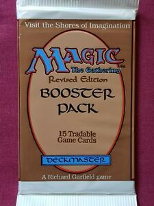 Magic The Gathering REVISED 3RD EDITION New Sealed Booster Pack MTG